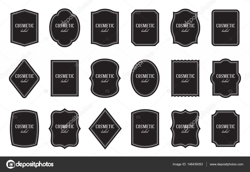 Conjunto de plantillas de etiqueta de producto. Diferentes formas ...