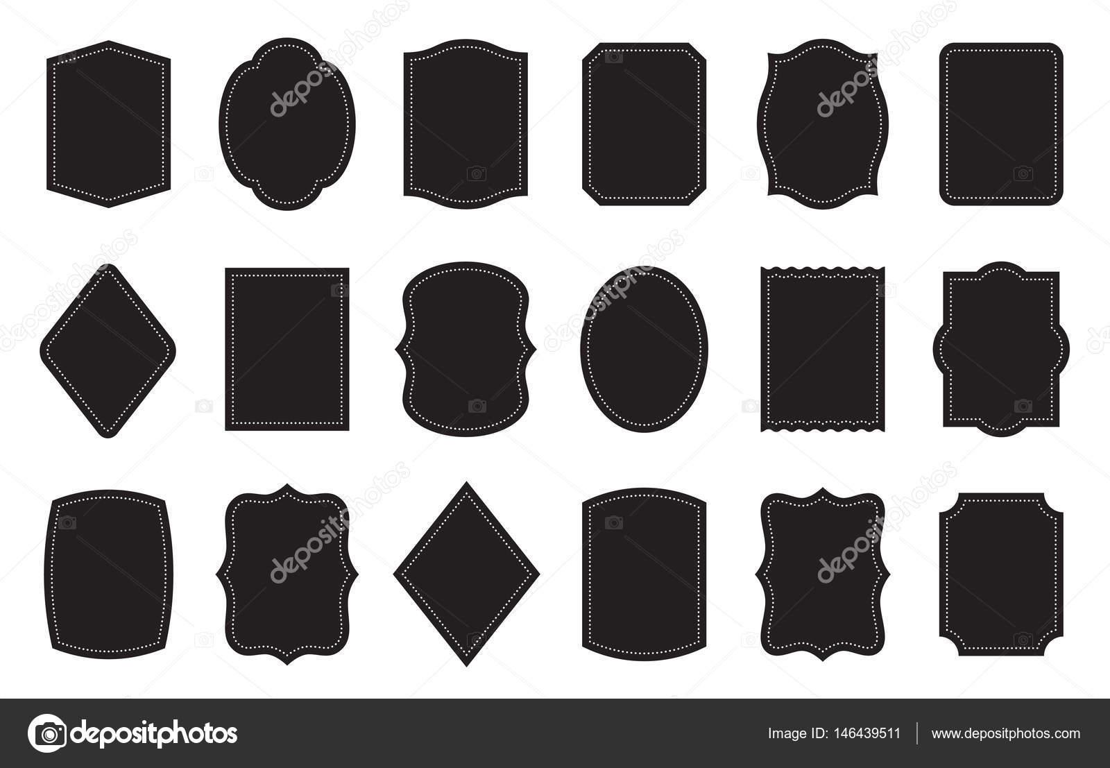 Product Label Templates | Reihe Von Produkt Etiketten Templates Verschiedene Formen