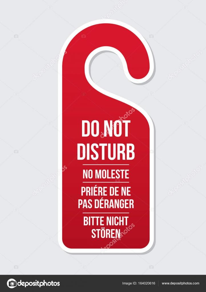 Do Not Disturb Door Hotel Sign Diffe Laguages Hanger Concept Of Needing Privacy Clic Design Vector By Moibalkon