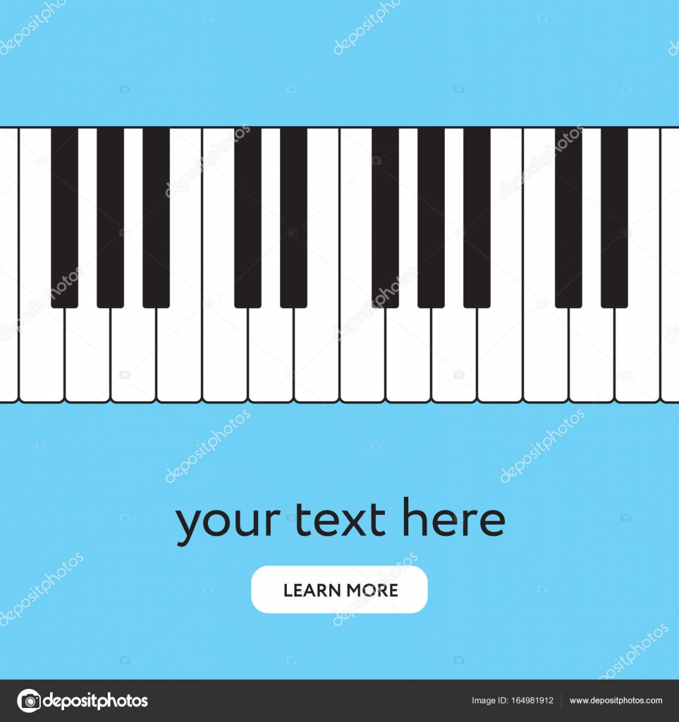 Piano Keyboard Internet Banner Place Your Text Stock Vector C Moibalkon 164981912