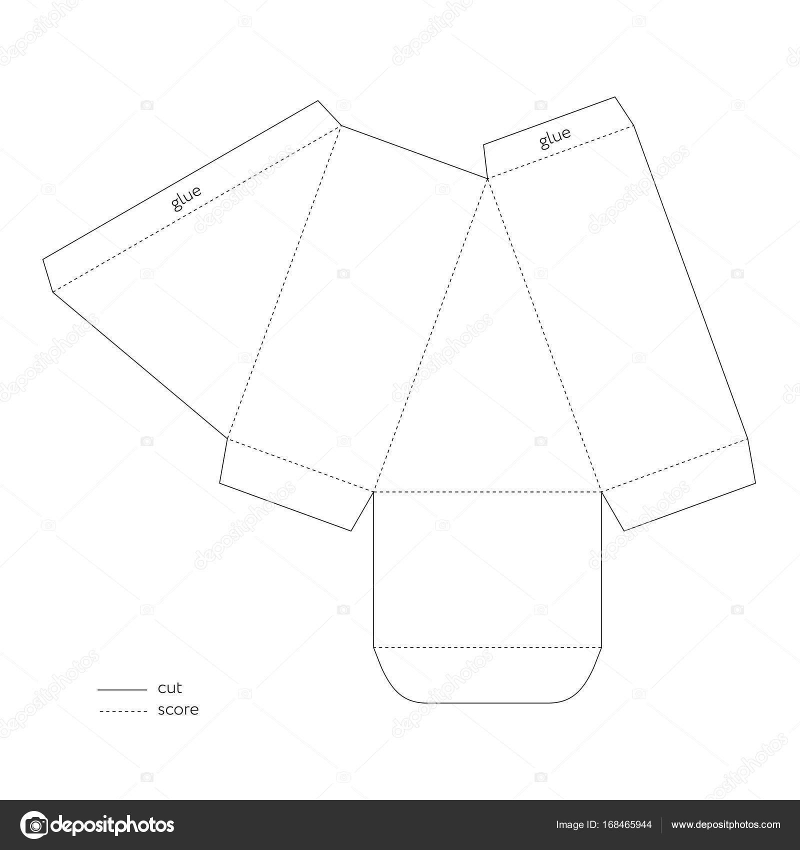ケーキのスライス ボックス素材テンプレート ギフト ボックス