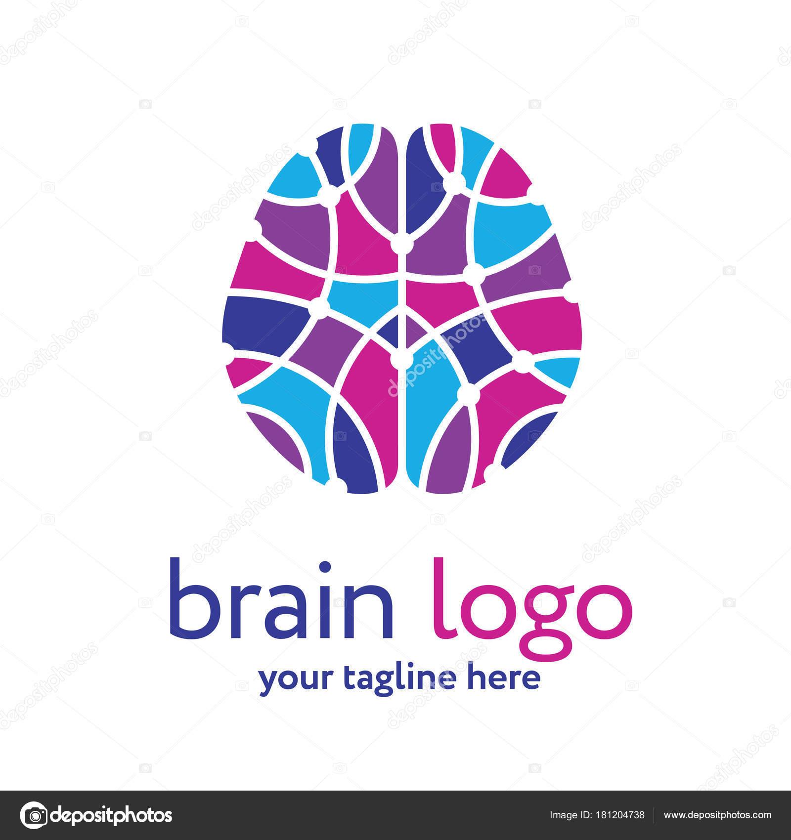 Plantilla Logotipo Cerebro Humano Concepto Investigación Del ...
