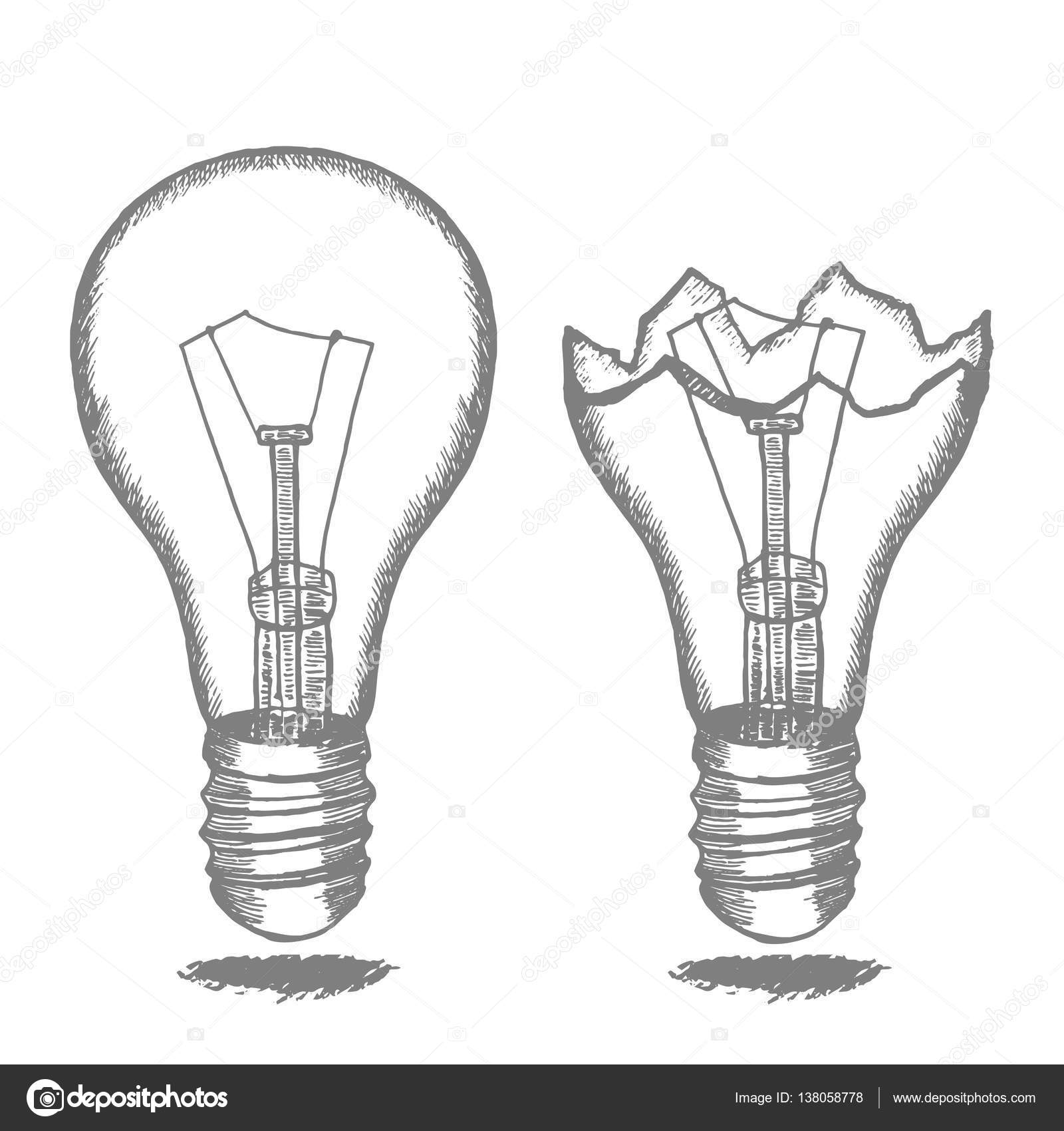 Lamp Bulb Hand Draw Sketch Vector Stock Vector C Bigmouse 138058778