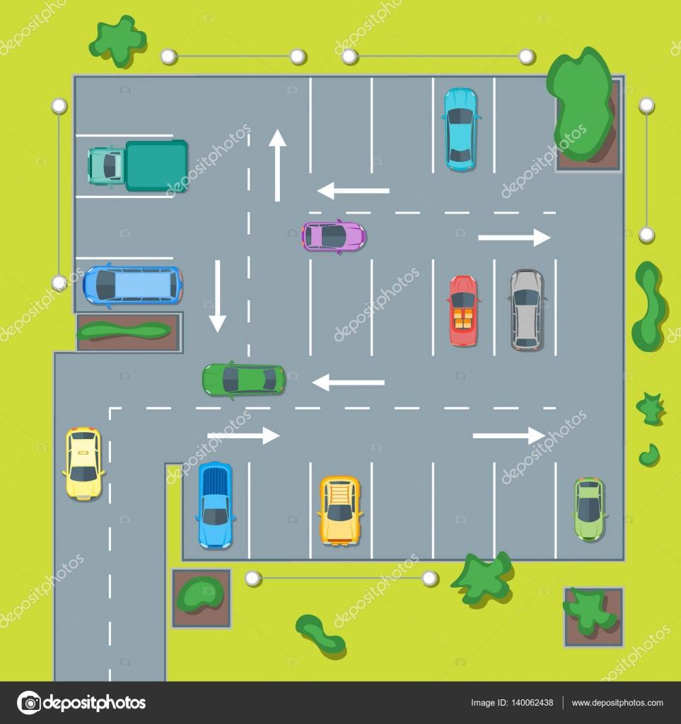 Схема парковки на авто