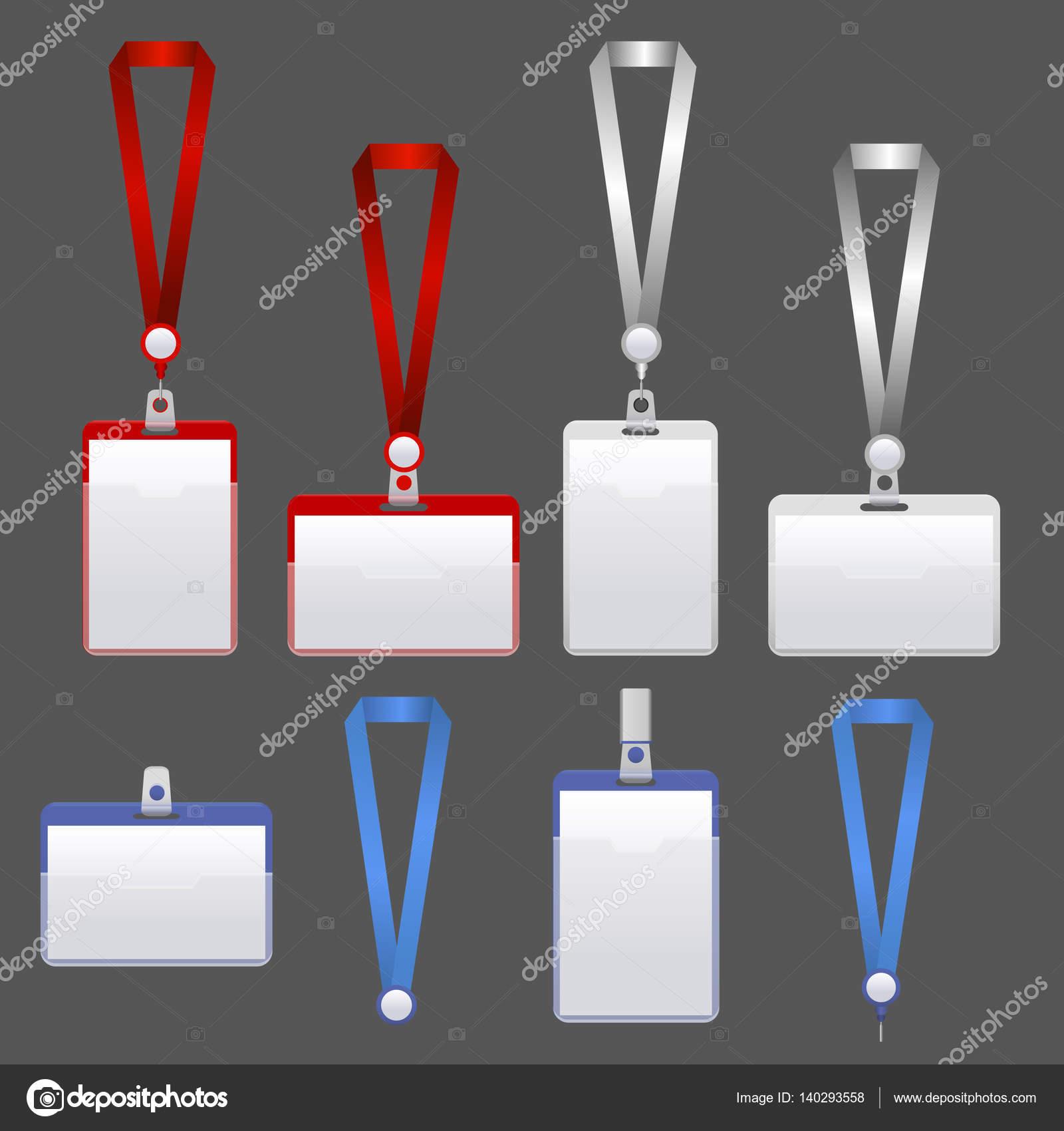 Sistema de identificación de plantilla insignia. Vector de — Archivo ...