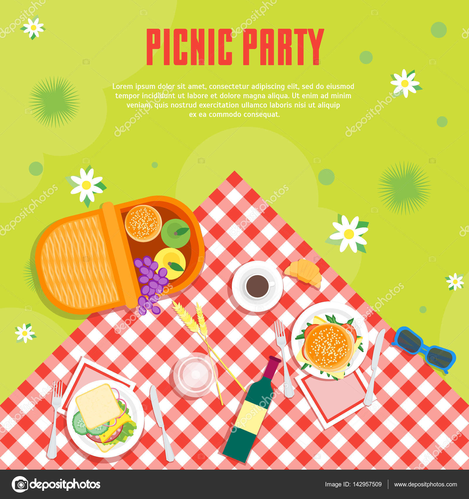 cartoon summer picnic in park basket card background summer picnic clip art free summer picnic clip art background