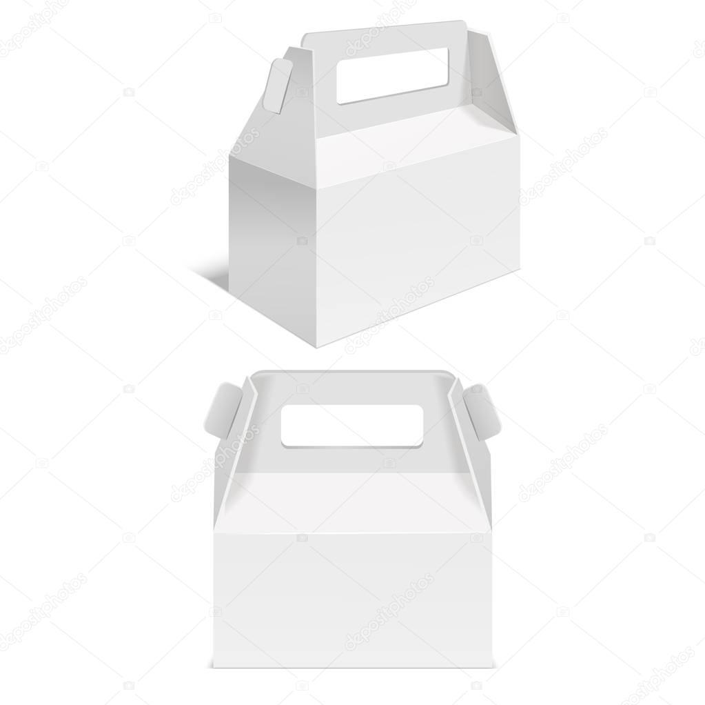 realistische vorlage leeres wei es papier faltschachtel vektor stockvektor bigmouse 148412181. Black Bedroom Furniture Sets. Home Design Ideas