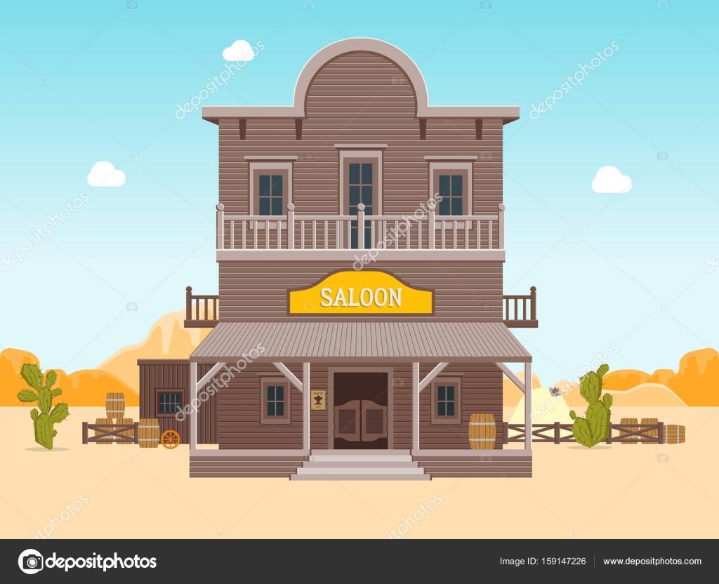 Cartoon-Gebäude-Limousine auf eine Landschaft Hintergrund. Vektor ...