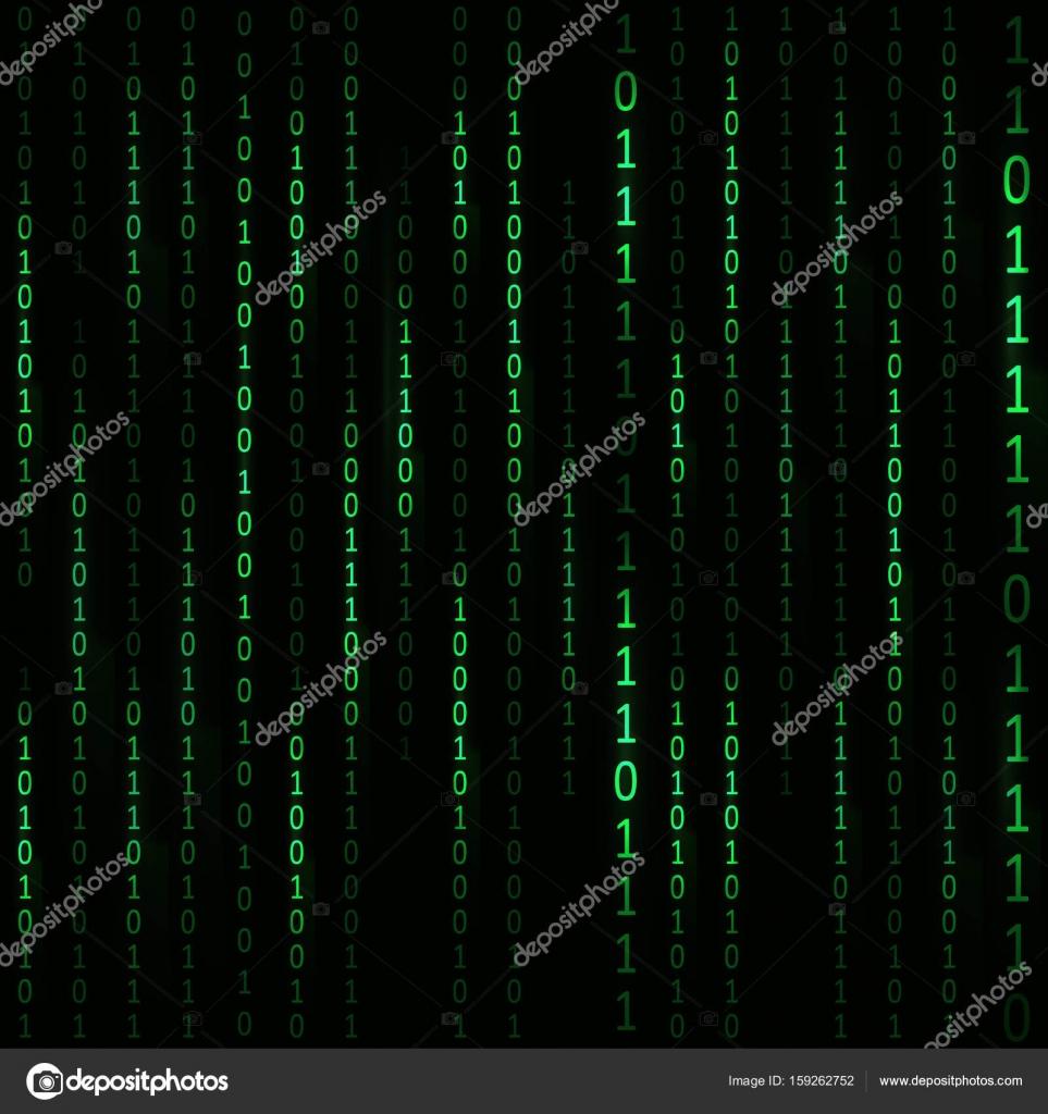 Matrix-Hacker-Hintergrund. Vektor