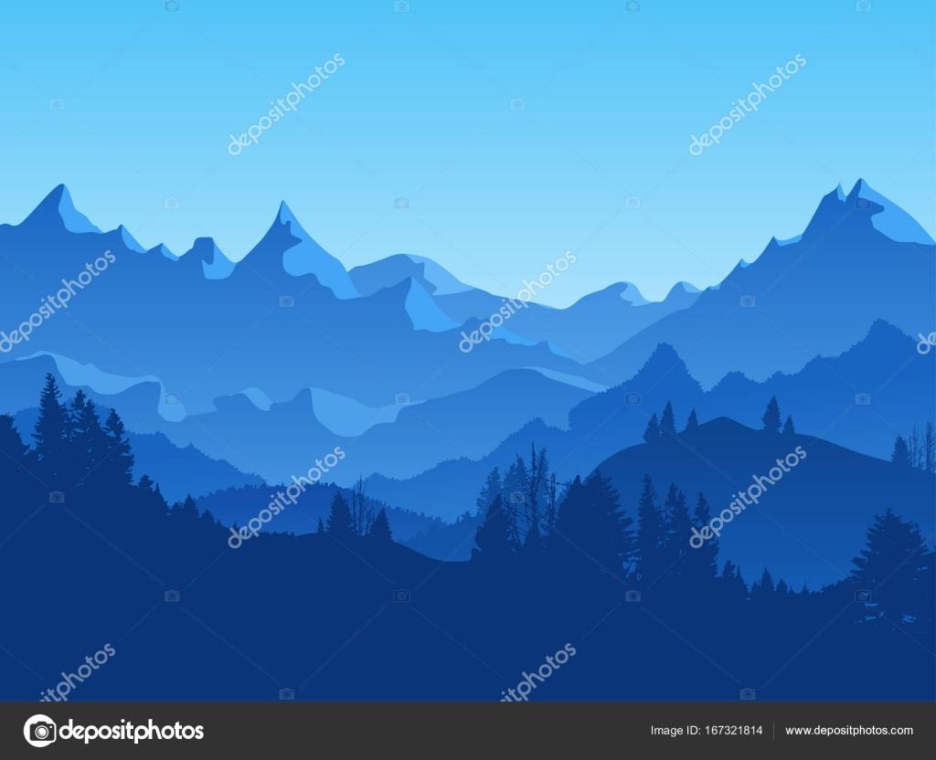Snap dessin for t de pins montagne d hiver paysage dessin illustration dessins pinterest - Dessiner un paysage d hiver ...