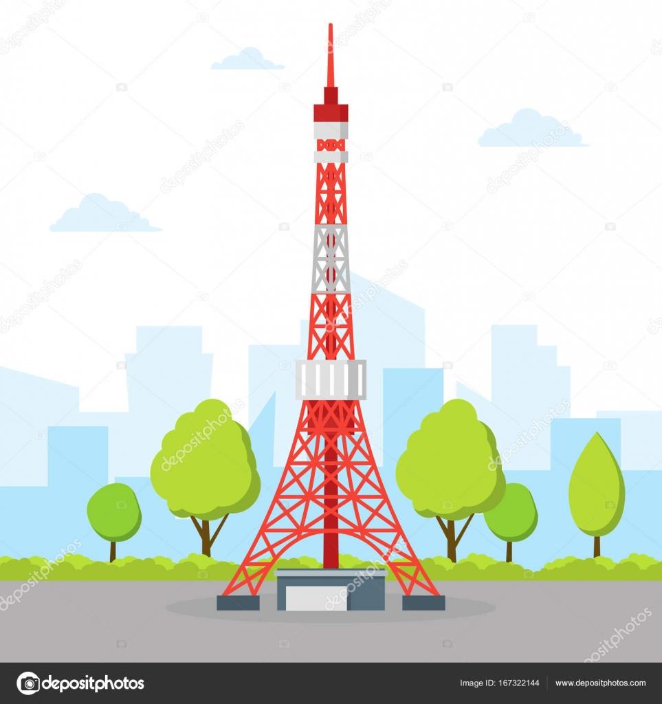 東京テレビ塔ベクトル ストックベクター Bigmouse 167322144
