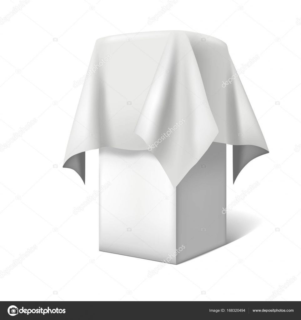 Realistic Template Blank White Presentation with a Cloth. Vector ...