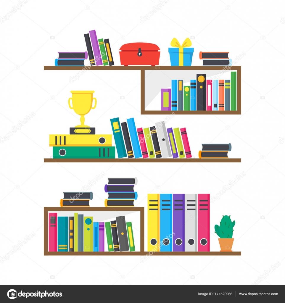 Cartoon Color Case Box with Books. Vector — Stock Vector © bigmouse ...