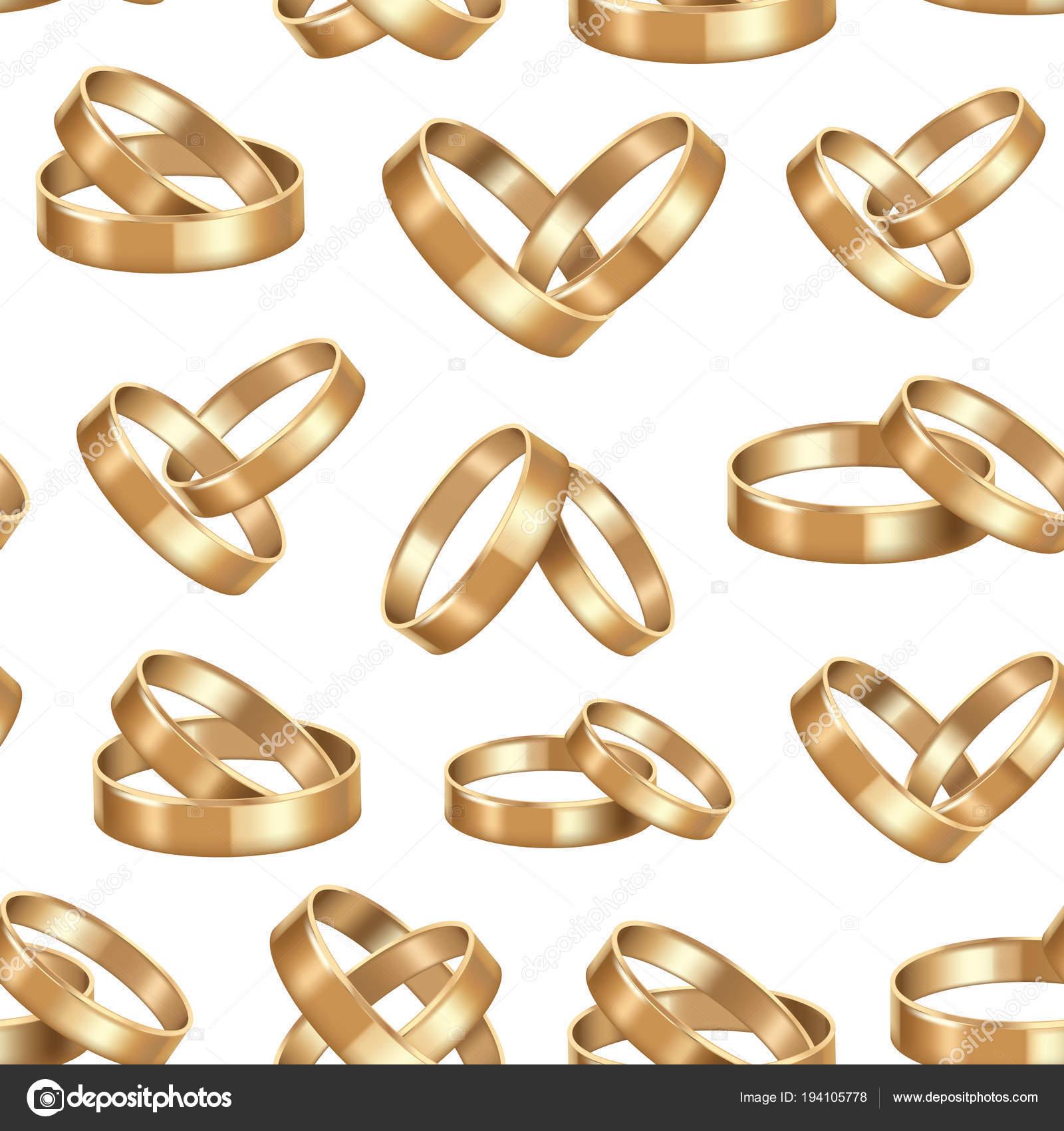 Realisticke Detailni Zlate Snubni Prsteny Vzor Bezesve Pozadi