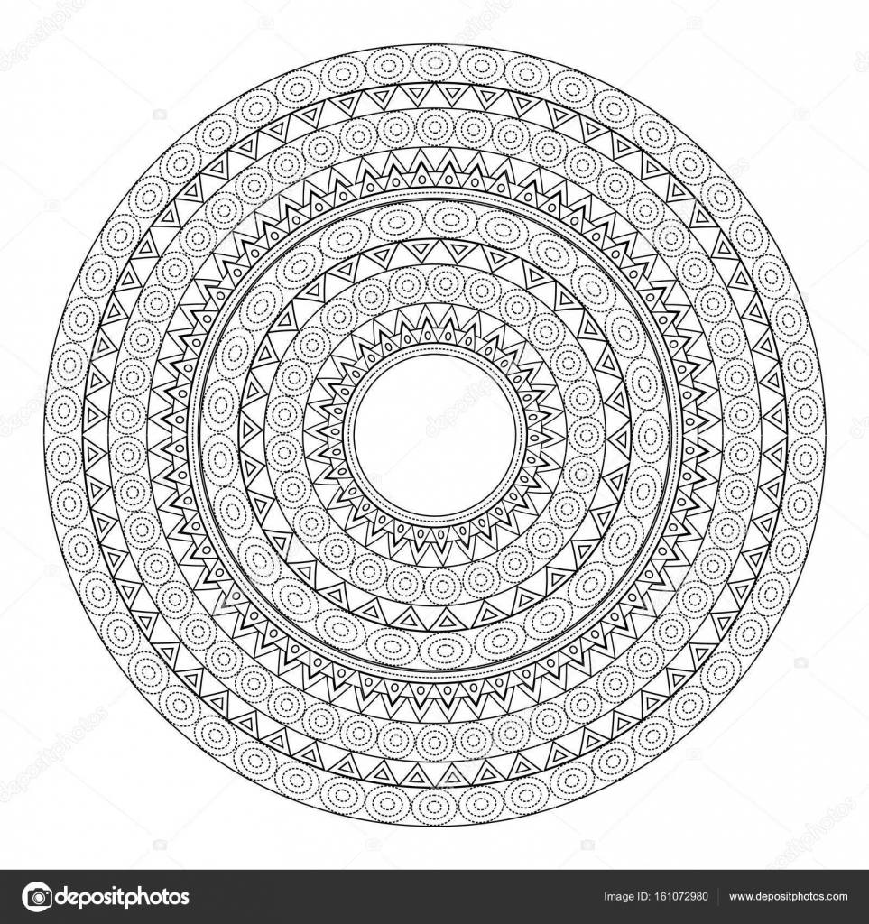 Mandalas For Coloring Book Decorative Black And White Round Outlane Ornament Unusual Flower Shape Oriental Vector Anti Stress Therapy Patterns