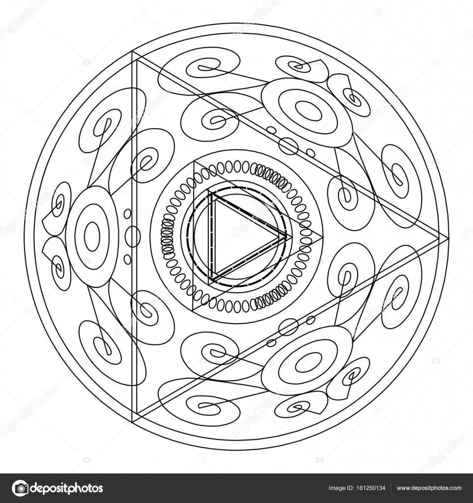 Mandalas para colorear libro. Ornamento decorativo contorno redondo ...