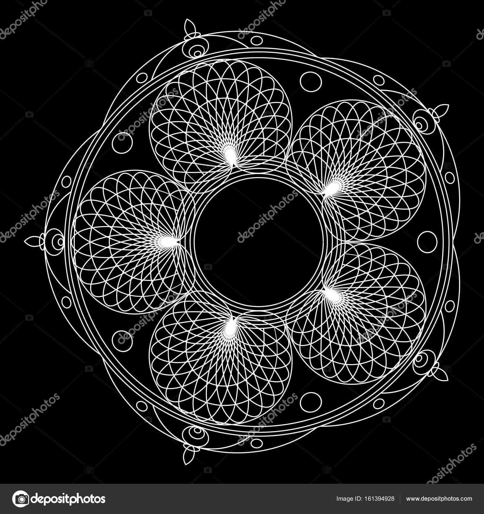 Ornamento Floral Significado Mandalas Para Colorear Libro