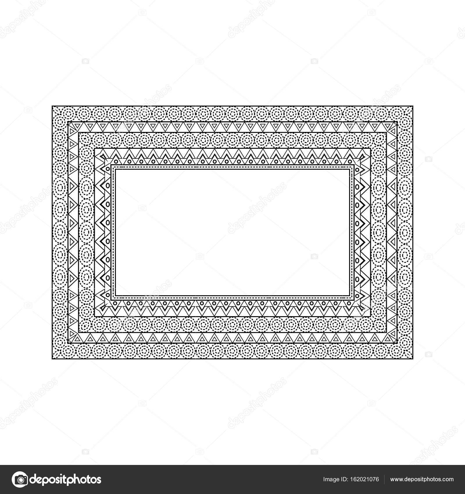 Reich verzierten Rahmen und Grenzen gesetzt — Stockvektor © Asnia ...