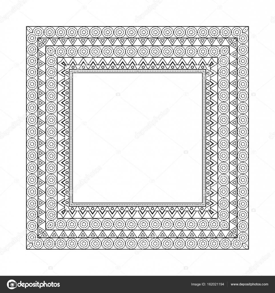 Ornate frame and borders set vector — Stock Vector © Asnia #162021194