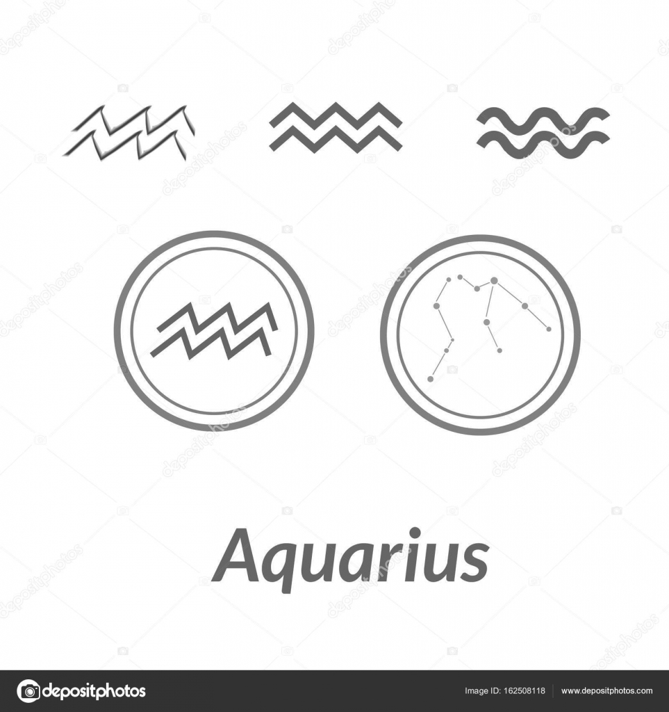 The Water Bearer Aquarius Sing Star Constellation Vector Element