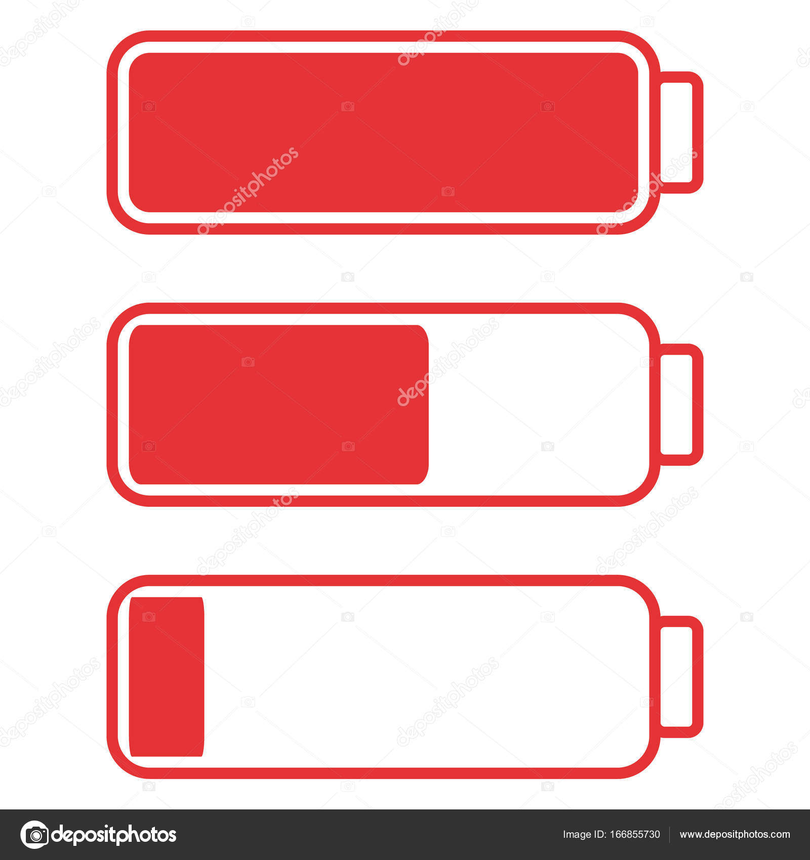 Smartphone or cell phone low battery icon. Low energy symbol. Flat ...