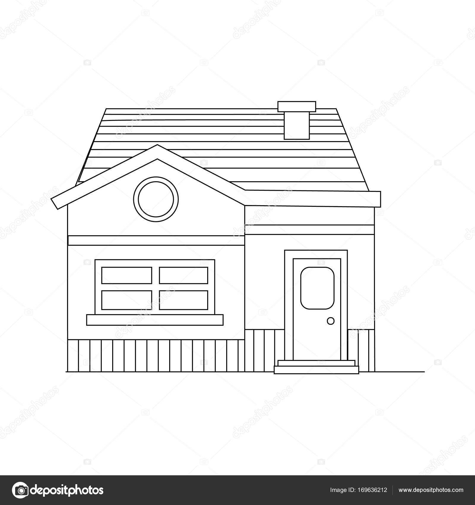 Kleines Modernes Haus Gebäude Zum Verkauf Oder Leben In. Nach Hause Vektor  Icon Vom Hintergrund