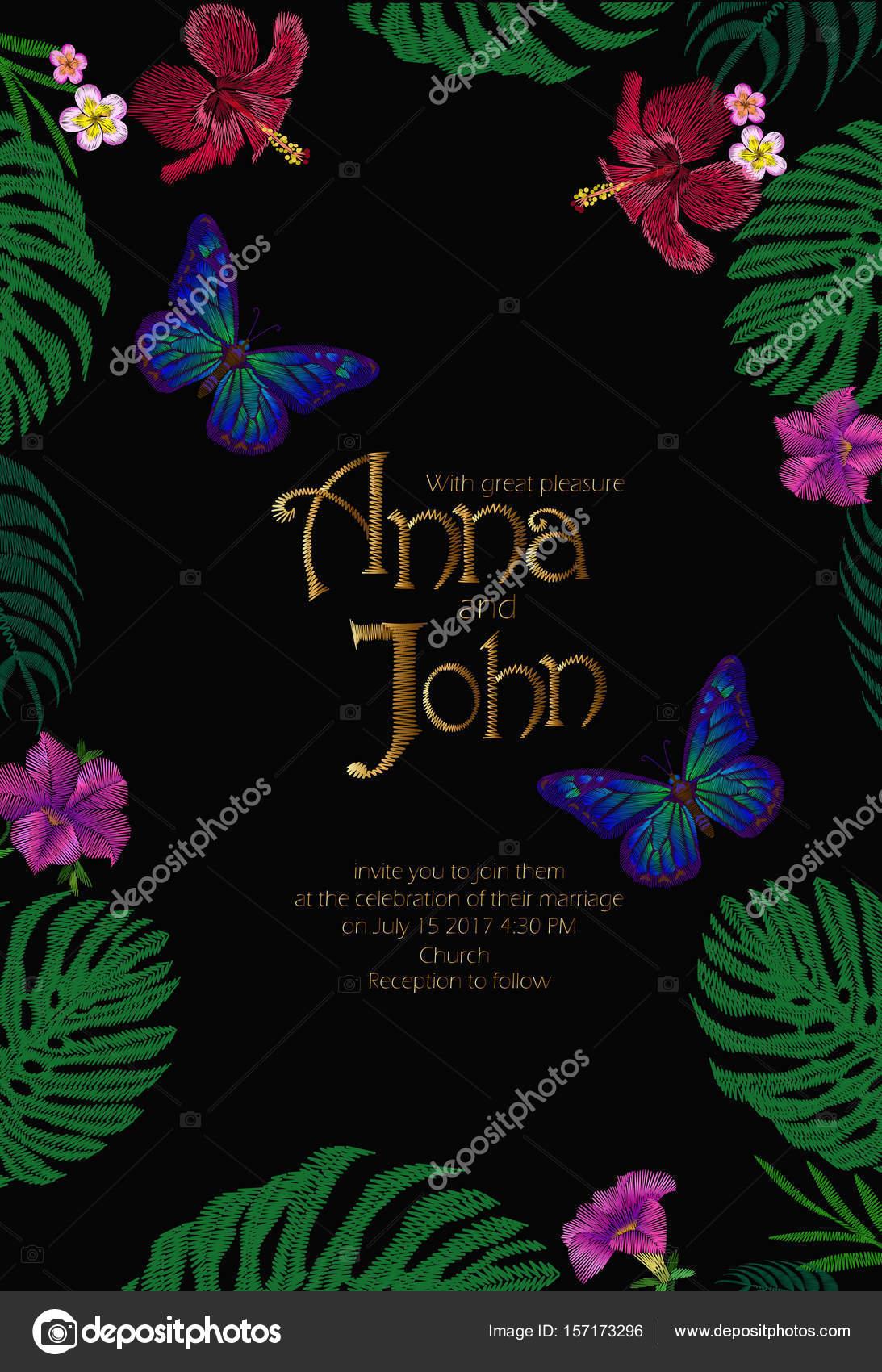 結婚式招待状は保存日付テンプレート カード手描きヴィンテージ