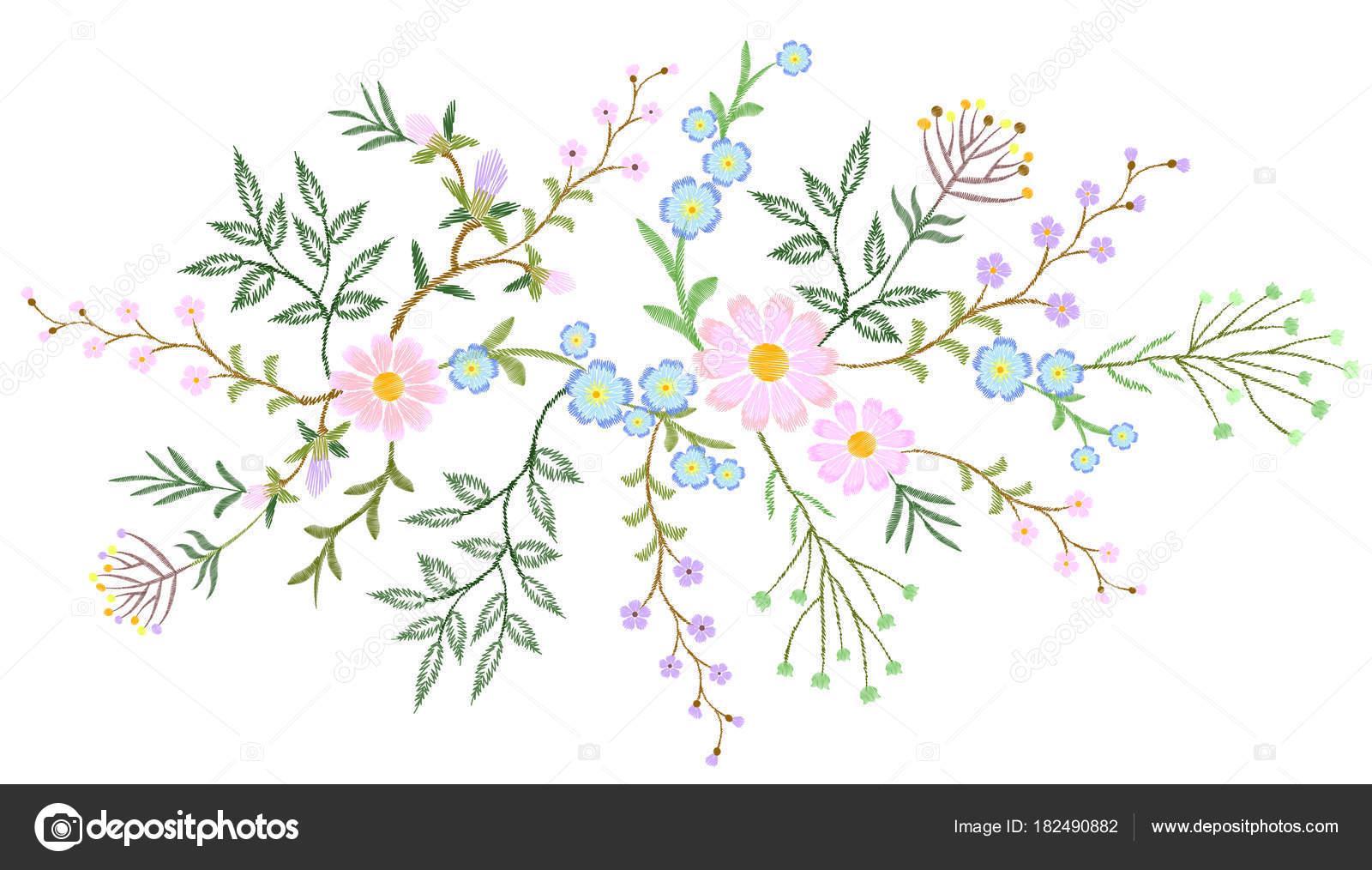 Dibujos: ramas para bordar | Bordado de encaje blanco flores ...