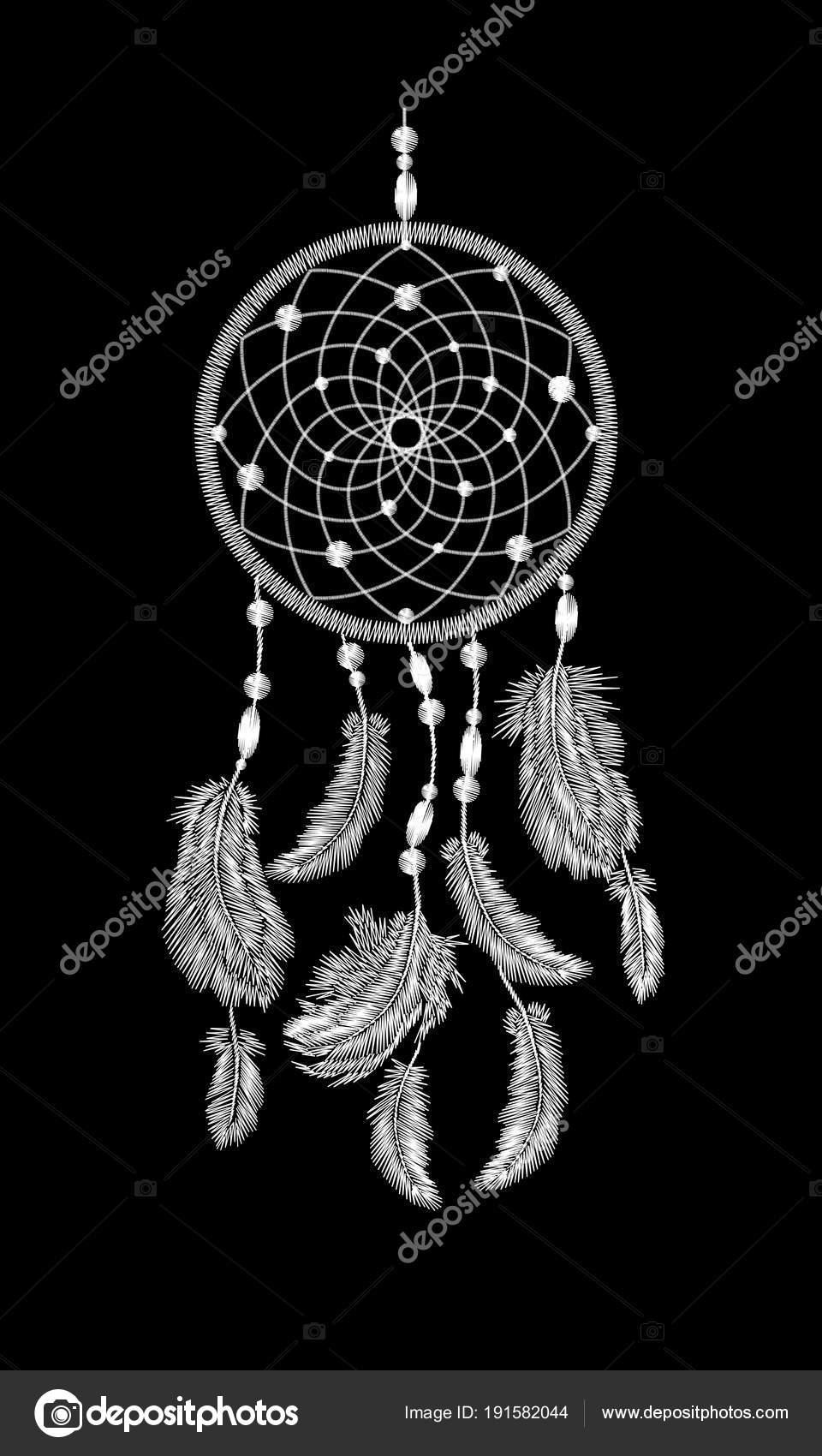 Plumas de atrapasueños indios nativos americanos boho bordado ...