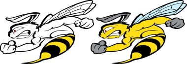 Super Bee Speed Flying delivery. Bee Boxing Mascot for sport teams. Great for t-shirt designs, business mascot logo and any other design work. Ready for car paint or sticker vinyl cutting.