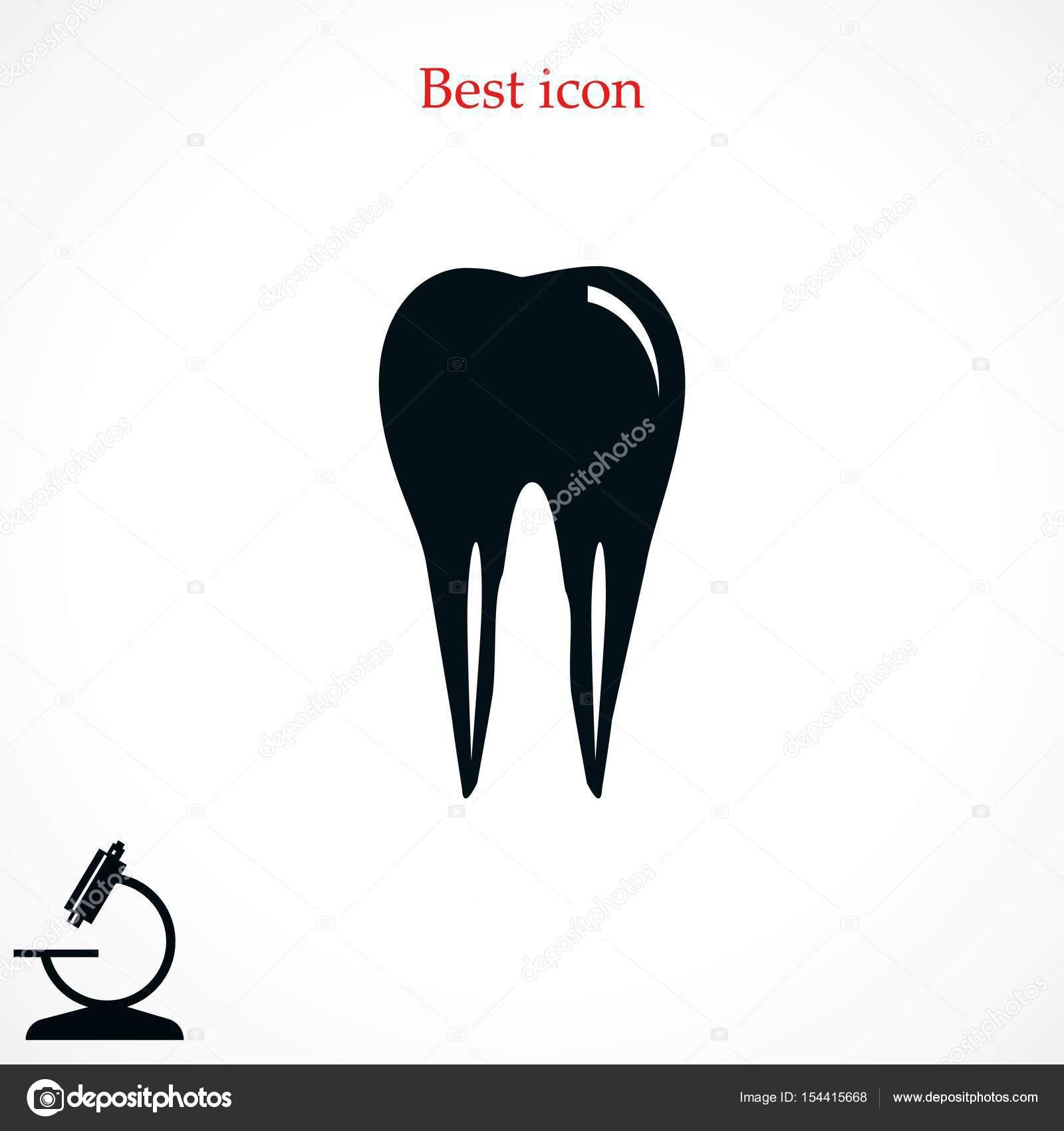 Vector icono de diente — Archivo Imágenes Vectoriales © Bestvector ...