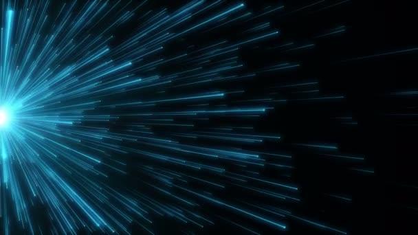 Částice modré bokeh prach abstraktní lehkým chodem tituly filmové pozadí smyčky