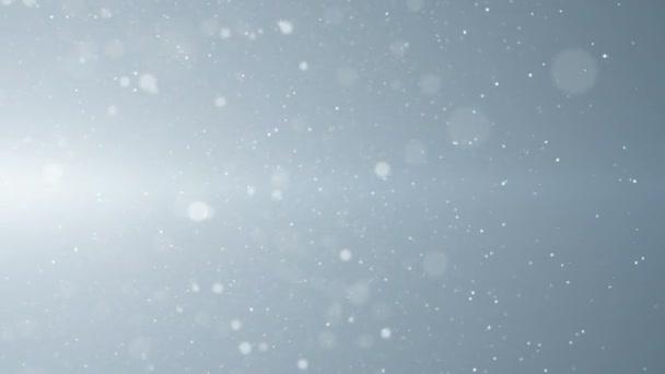 Bílé částice podnikání neplánovali glitter bokeh prach abstraktní pozadí smyčky