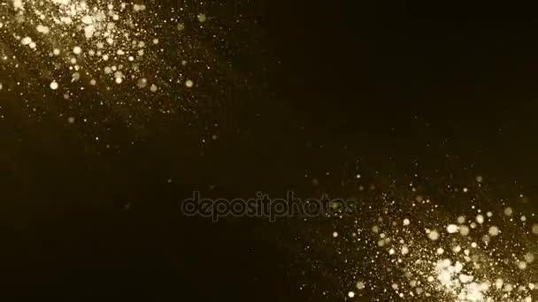Částice zlato bokeh třpyt ocenění prach abstraktní pozadí smyčka
