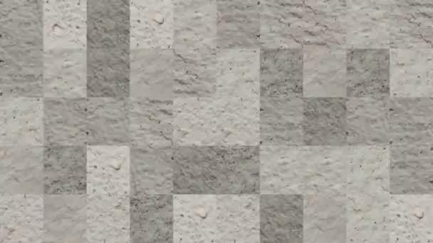 Abstraktní video mozaikových textur z prvků betonové stěny v bledě bílé barvě. Návrh pozadí. Backdrop. Tapeta.