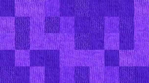 Absztrakt videó mozaik textúrákról a lila kötött szövet elemeiről. Háttértervezés. Háttérinformáció. Tapéta.