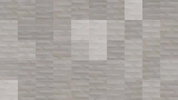 Abstraktní video z mozaikových textur z prvků bílého obložení keramických dlaždic. Návrh pozadí. Backdrop. Tapeta.