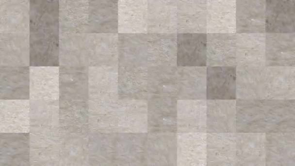 Abstract video of mosaic textures from elements of a sheet of brown cardboard. Background design. Backdrop. Wallpaper.
