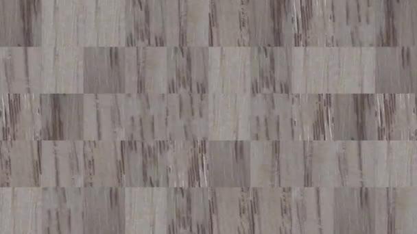 Abstraktní video mozaikových textur z prvků desky s dřevěnou dýhou. Návrh pozadí. Backdrop. Tapeta.
