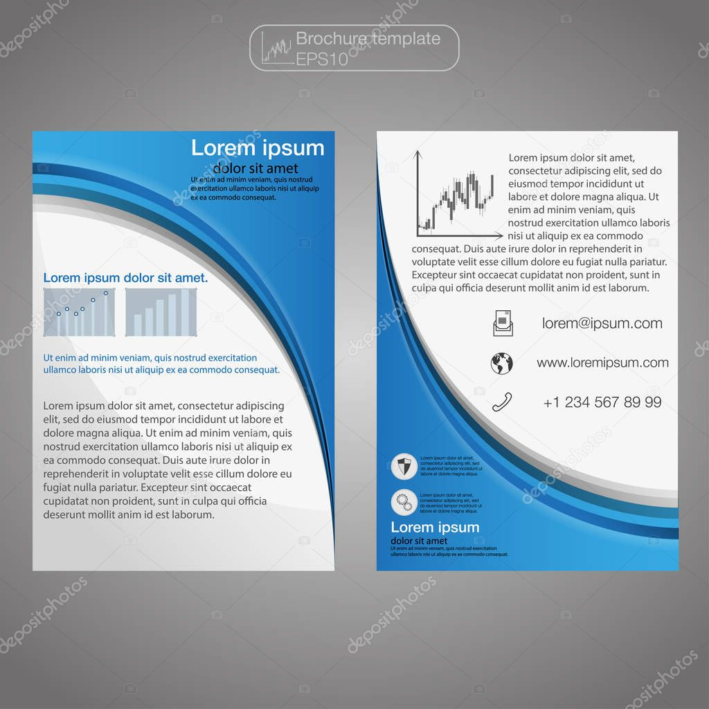 Front And Back Page Brochure Template Layout Template Presentation - 1 page brochure template