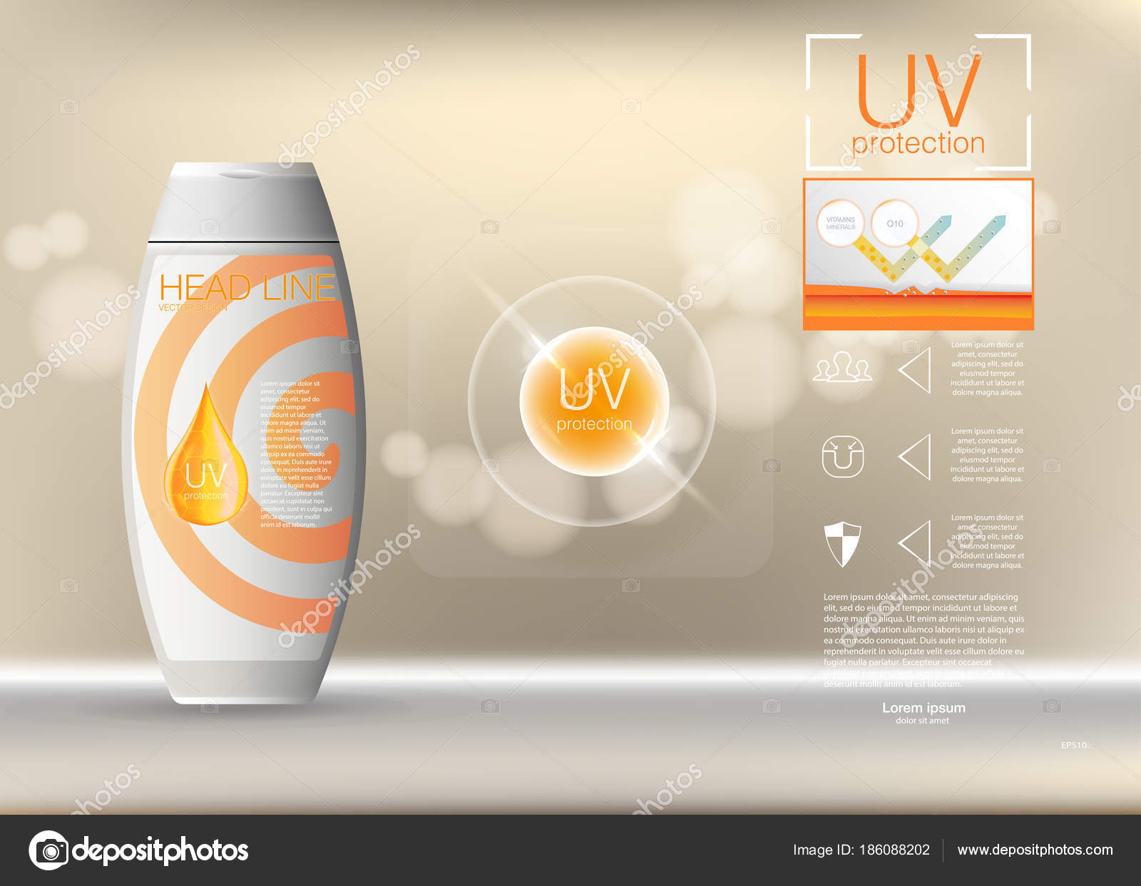 Design Cosmetics Product Advertising Vector Illustration EPS - Product ad template