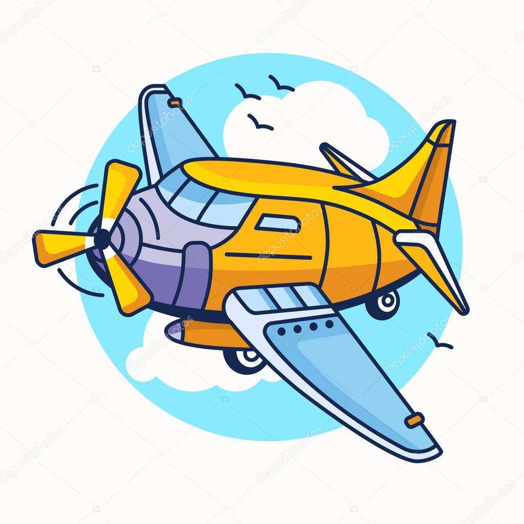 Illustration de dessin anim d avion d avion de ligne en - Avion en dessin ...