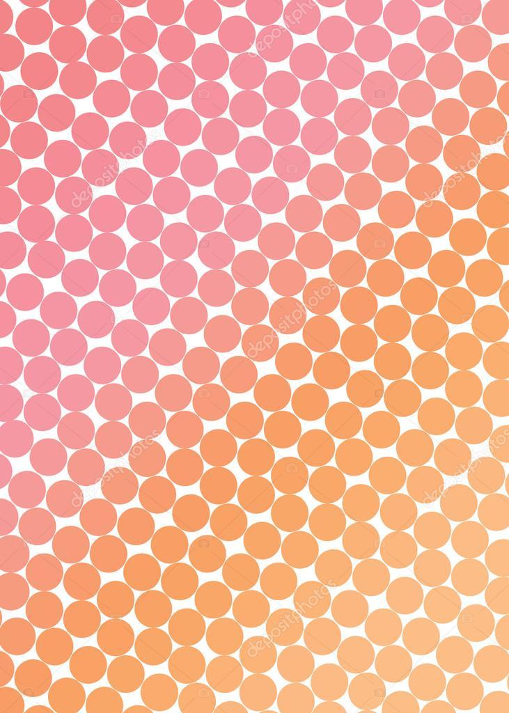 95d1db402935 Fondo naranja-rosado con ángulo de círculos - color naranja rosado — Vector  de dec925 — Vector de ...