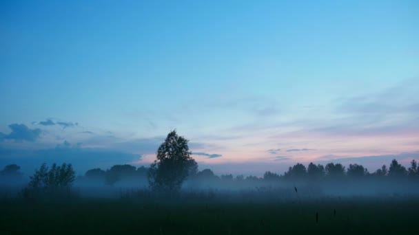 Večer, mraky, mlha - časová prodleva
