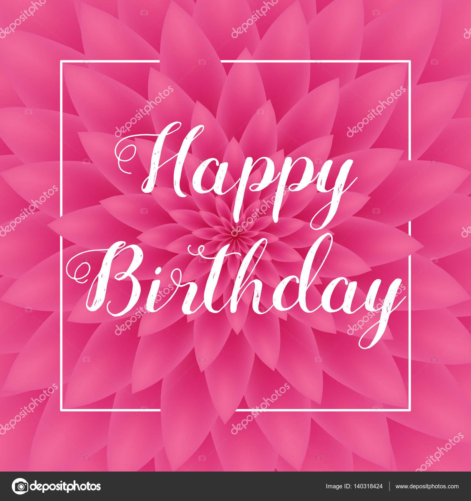 carte d'anniversaire joyeux - jolie carte de voeux avec chrysanthème
