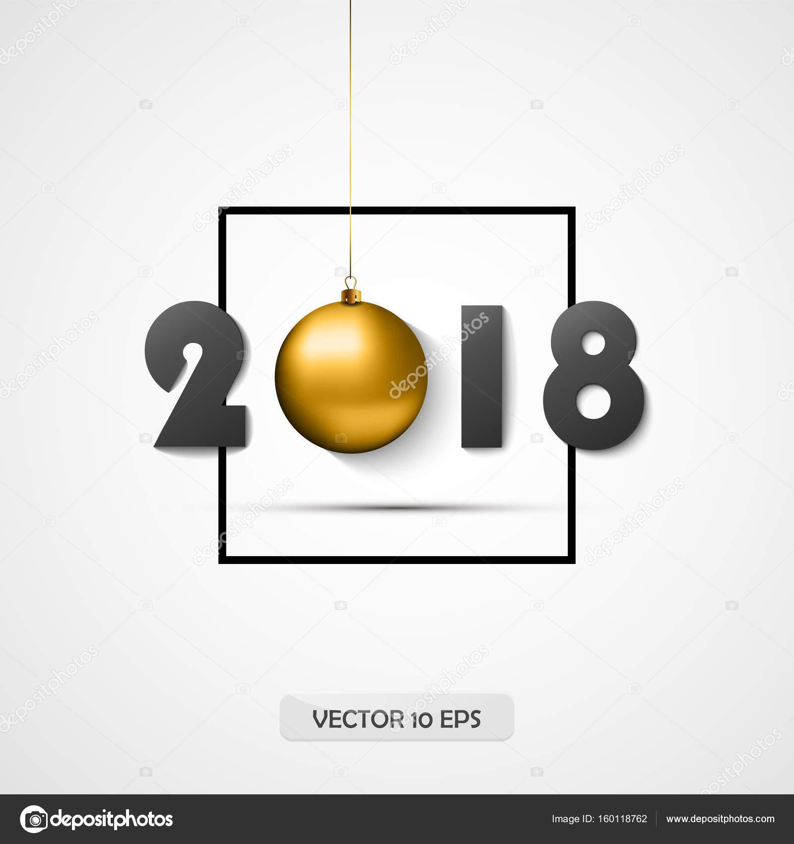 Bien-aimé carte de voeux de nouvel an. Vector. Ballon d'or. Logotype pour  GN12