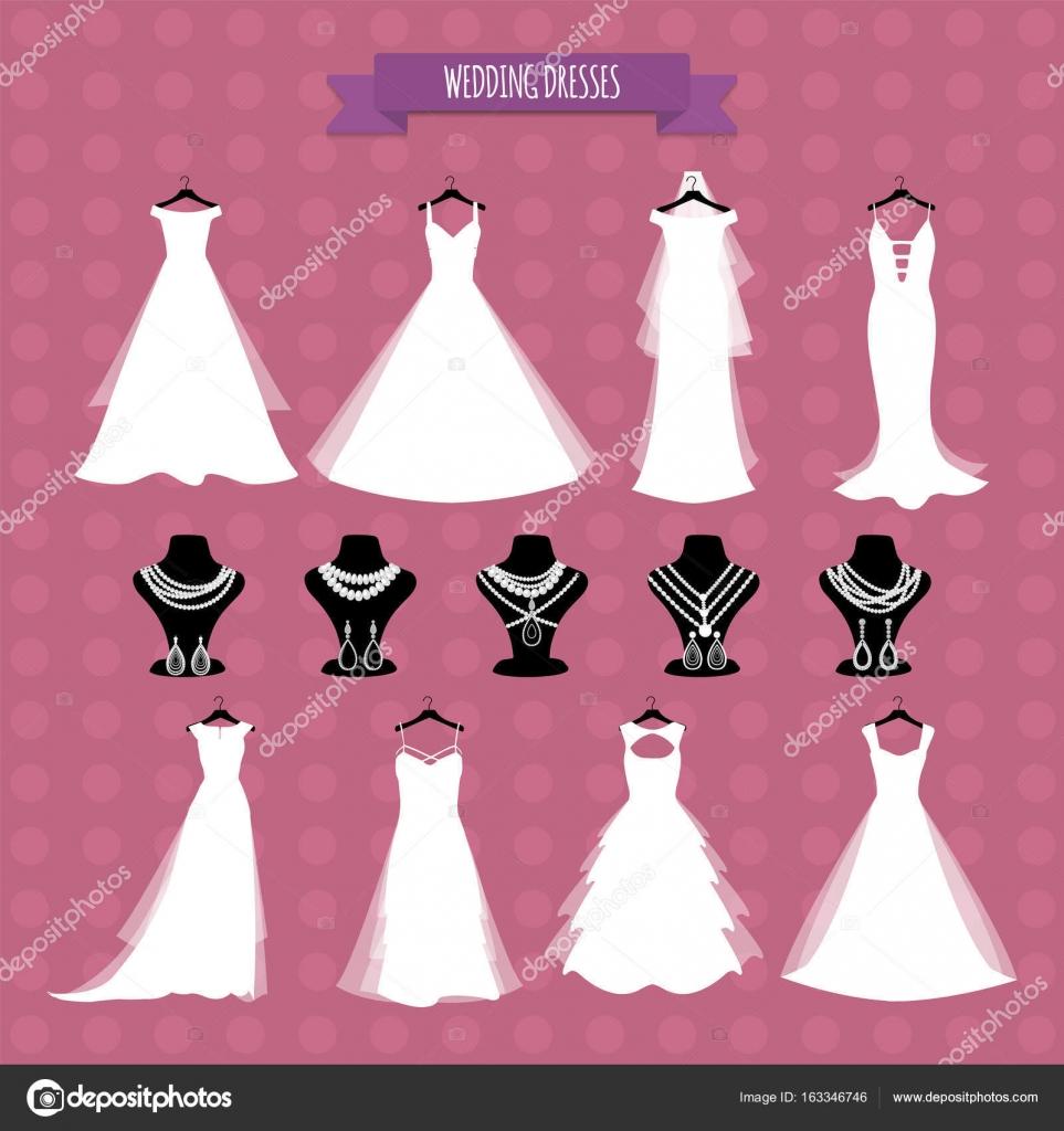 Tienda de la boda. Ilustración vectorial, eps 10. Vestido de novia y ...