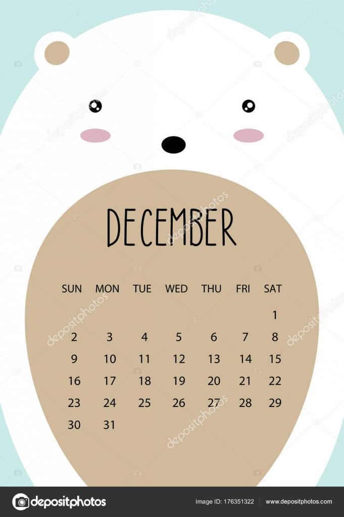 month calendar december 2018
