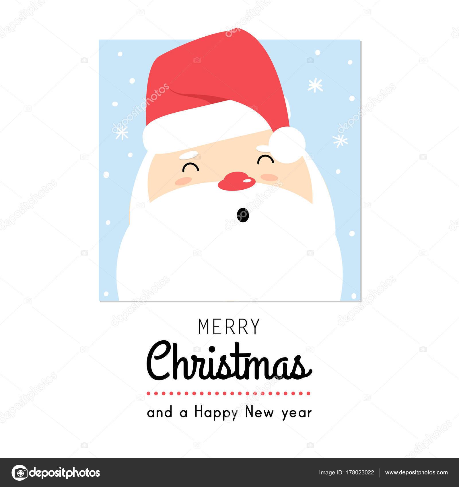 Süße Weihnachtsgrüße.Süße Weihnachtsgrüße Kartendesign Cartoon Santa Stockvektor