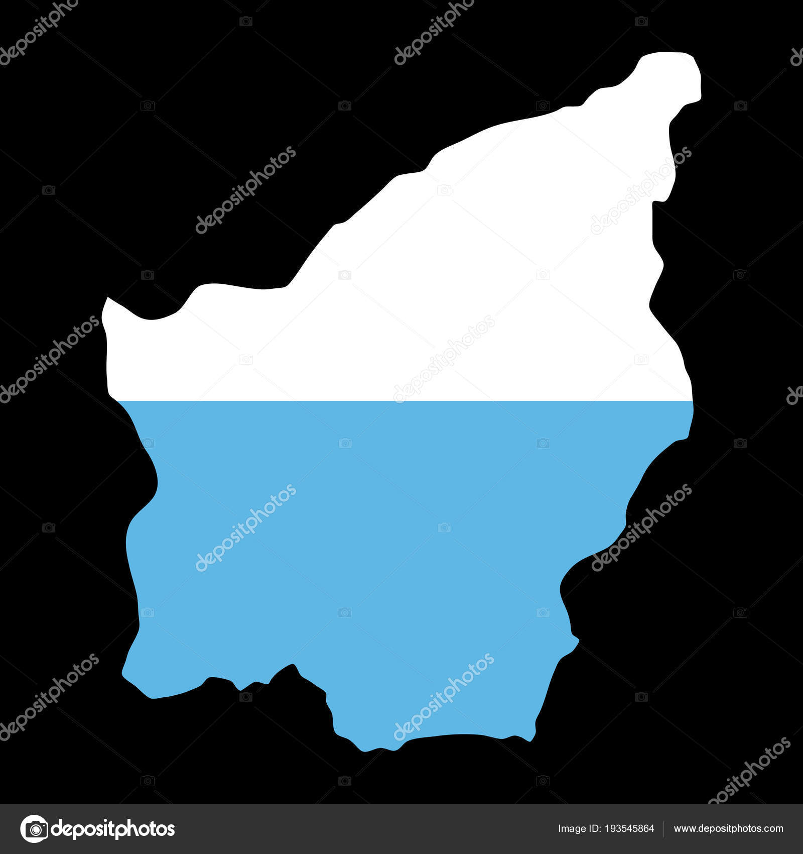 silhouette country borders map of San Marino on national flag